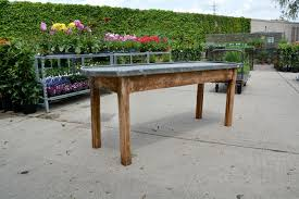 french zinc top table u2013 detroit garden works