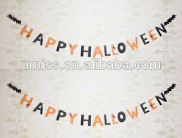 2016 new design hanging happy halloween banner paper letter