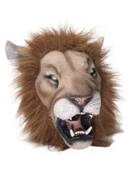 lion halloween costume deluxe latex lion mask