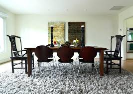dining table rug under dining table on carpet pinterest size