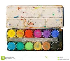 Paint Pallet by Paint Palette Isolated On White Background Stock Photo Image