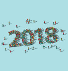 happy new year card 2018 happy new year card crowd big vector image