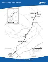Marta Train Map Atlanta by Route 408 U2013 Johns Creek To Chamblee Xpress