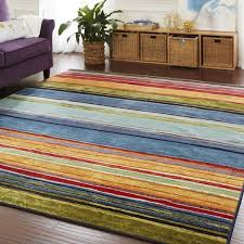 Area Rugs 5 X 8 Mohawk Home New Wave Rainbow Stripe Area Rug 5 U0027 X 8 U0027 Free