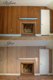wood paneling makeover ideas whitewash katie hrubec ezinga whitewash the bed wall and paint