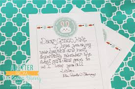 my easter bunny official easter bunny stationery simplykierste