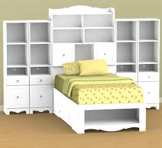 bedroom twin platform bed frame with bookcase headboard and