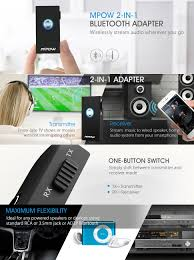 best 2 1 home theater system in india amazon com mpow bluetooth receiver transmitter 2 in 1 wireless