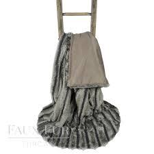 Faux Fur Throw Grey Grey Textured Faux Fur Throw U2013 Alaskan Ash