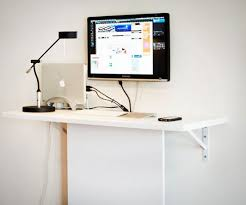 Desk Shelf Combo by 17 Wall Mounted Desks To Make The Most Of Your Small Space Brit Co