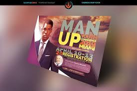 man up church conference flyer template design bundles