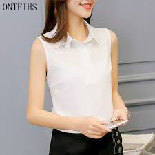 sleeveless collared blouse popular white sleeveless collared blouse buy cheap white
