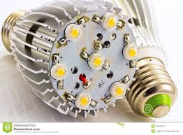 led light bulbs e27 with 1 watts smd chips stock image image