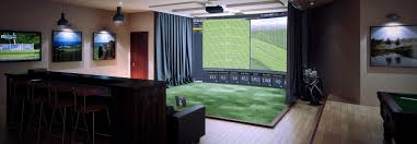 indoor golf simulator hd and full swing