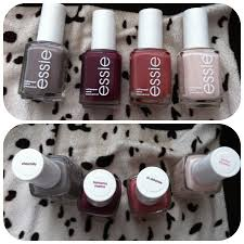 perfect fall nail colors essie chinchilly bahama mama in