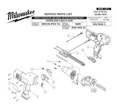 buy milwaukee 6560 50 282b cordless caulk gun replacement tool