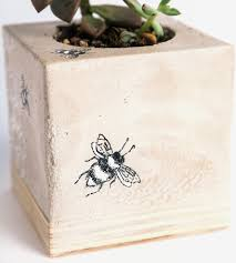Bee Home Decor by Bees U0026 Honeycomb Concrete Planter Home Decor U0026 Lighting Mdc