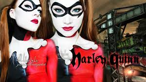 harley quinn batman makeup body paint tutorial youtube