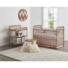 Baby Furniture Nursery Sets Seeds Piper Metal Toddler Bed Gold Baby