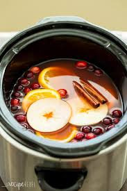 crock pot cooker cranberry apple cider easy recipe