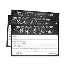 advice to and groom cards 50 4x6 rustic chalk wedding advice well wishes for