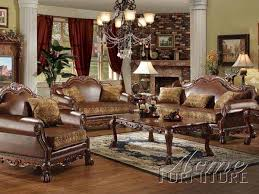 Leather And Fabric Living Room Sets Amazing Traditional Pu Leather Fabric 2 Pieces Sofa Living Room