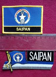 Flag Badges Embroidered 2018 Saipan Flag Embroidery Patch Embroidery Badge Iron On Patch
