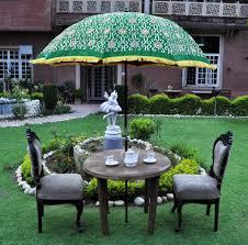 designer indian large garden parasol outdoor umbrella green color