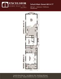 schult floor plans schult main street 6814 77 excelsior homes west inc