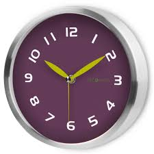 silent wall clocks early spring purple plum silent wall clock decomates