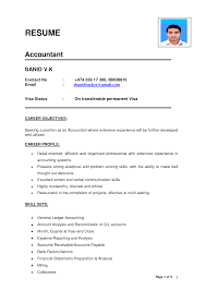 Best Resume Model For Freshers by Resume Format For Freshers Accountant Free Resume Example And