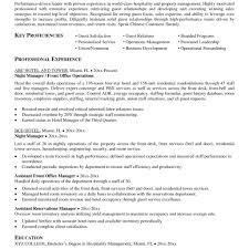 sample resume for hotel management fresher fred resumes