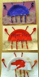 cute paper plate crab ocean crafts crafts for kids and