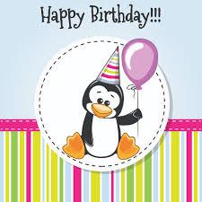 Penguin Birthday Meme - happy birthday baby greeting cards vector 01 birthday