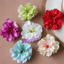 flower decoration for hair silk peony flowers artificial flowers diy hair accessory clothes
