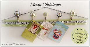 how to make a fabric christmas card holder