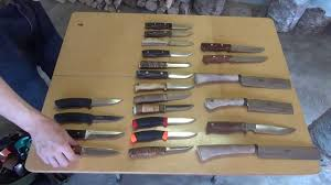 kitchen knife collection my bushcraft knife collection 2013 youtube