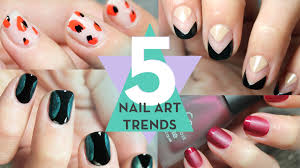 5 nail art trends step by step youtube
