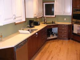 countertops white brown contemporary kitchen design with cabinets
