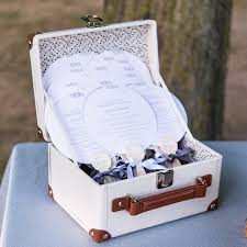 Wedding Wishing Box Mini Suitcase Wishing Well Alternative Wedding Guest Book