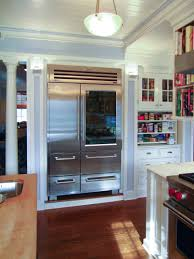 kitchen refrigerator cabinets traditional kitchen double handle refrigerators with white