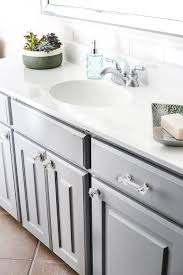 Countertop Cabinet Bathroom Painted Cabinet Bathroom Update Bless U0027er House