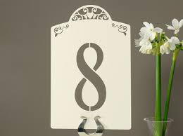 Laser Cut Table Numbers Large Vintage Heart Domed Laser Cut Table Number Card Set A5