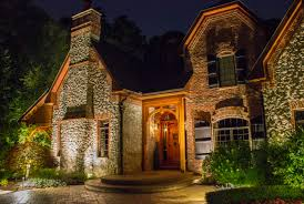 lighting exterior design with pavers and hedges also stairs plus