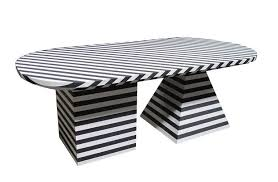 Black And White Striped Dining Chair Black And White Striped Dining Table By Kelly Wearstler For Sale
