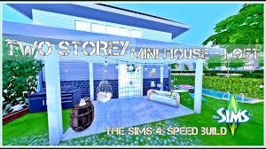 the sims 4 speed build mini house loft youtube