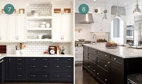 Kitchen Cabinets Black And White Eye Beautiful Two Tone Kitchen Cabinets Curbly