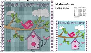 home sweet home free cross stitch pattern free cross stitch