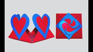 cara membuat kartu ucapan i love you diy crafts how to make love card sealed with hearts greeting