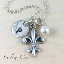fleur de lis gifts items similar to sterling silver fleur de lis charm necklace